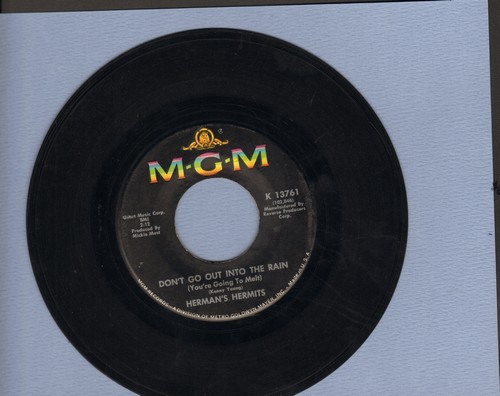 Herman's Hermits - Moonshine Man/Don't Go Out Into The Rain (You're Going To Melt) (bb) - NM9/ - 45 rpm Records