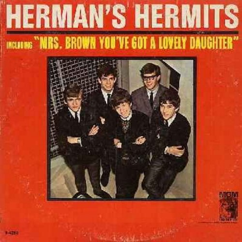 Herman's Hermits - Herman's Hermits: Mrs. Brown You've Got A Lovely Daughter, I'm Into Something Good, Sea Cruise, Mother-In-Law, Your Hand In Mine, Walkin' With My Angel (vinyl MONO LP record) - EX8/VG7 - LP Records