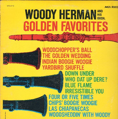 Herman, Woody & His Orchestra - Golden Favorites: Woodchopper's Ball, Chip's Boogie Woogie, The Golden Wedding (vinyl LP record, re-issue of vintage recordings) - NM9/VG6 - LP Records