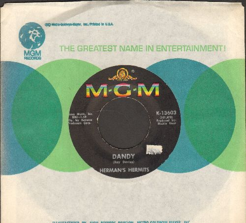 Herman's Hermits - Dandy/My Reservation's Confirmed (with MGM company sleeve) - NM9/ - 45 rpm Records
