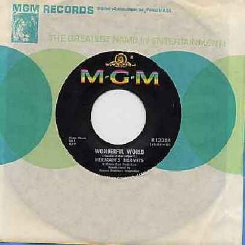 Herman's Hermits - Wonderful World/Traveling Light (with MGM company sleeve) - NM9/ - 45 rpm Records