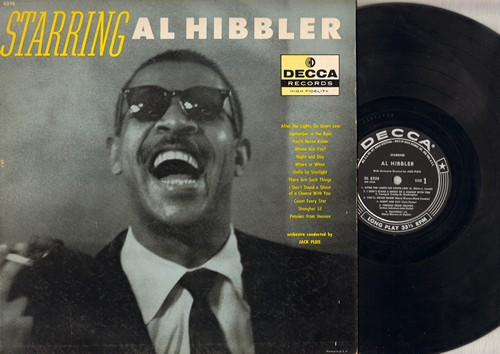 Hibbler, Al - Starring Al Hibbler: Pennies From Heaven, September In The Rain, Night And Day, Count Every Star, You'll Never Know (vinyl MONO LP record) - VG7/EX8 - LP Records