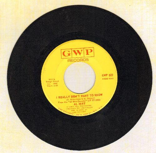 Hirt, Al - I really Don't Want To Know/Orange Blossom Special - EX8/ - 45 rpm Records