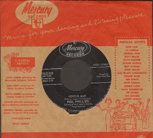 Phillips, Phil - Take This Heart/Verdie Mae (NICE condition with Mercury company sleeve)(ssol) - NM9/ - 45 rpm Records