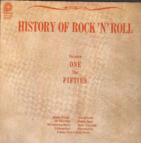 Bennett, Joe & The Sparkletones, Danny & The Juniors, Pony-Tails, others - History Of Rock'n'Roll Vol. 1 - The 50s: Black Slacks, Personality, Young Love, At The Hop, Born Too Late (vinyl LP record, re-issue of vintage recordings) - NM9/EX8 - LP Records