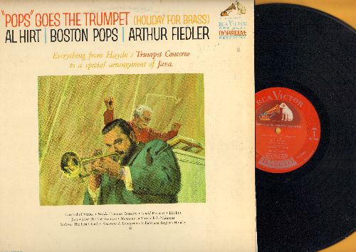 Hirt, Al with Arthur Fiedler & Boston Pops - Pops Goes The Trumpet: Java, The Toy Trumpet, The Lost Chord, Bugler's Holiday (vinyl LP record, Red Seal Dynagroove pressing) - NM9/NM9 - LP Records