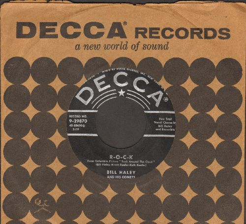 Haley, Bill & His Comets - R-O-C-K/The Saints Rock 'N Roll (with vintage Decca company sleeve) - EX8/ - 45 rpm Records