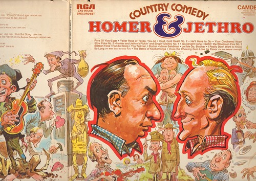 Homer & Jethro - Country Comedy: He'll Have To Go, Goodnight Irene, I Really Don't Want To Know, Sixteen Tons (2 vinyl LP record set, gate-fold cover) - NM9/EX8 - LP Records
