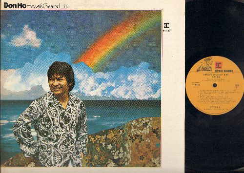 Ho, Don - Greatest Hits: Blue Hawaii, To You Sweetheart, Aloha, Isa Lei, Sweet Leilani, Akaka Falls, Now Is The Hour, Beyond The Rainbow, Forevermore, My Isle Of Golden Dreams, Beyond The Reef, Aloha Oe (Vinyl Gatefold Record) - EX8/EX8 - LP Records