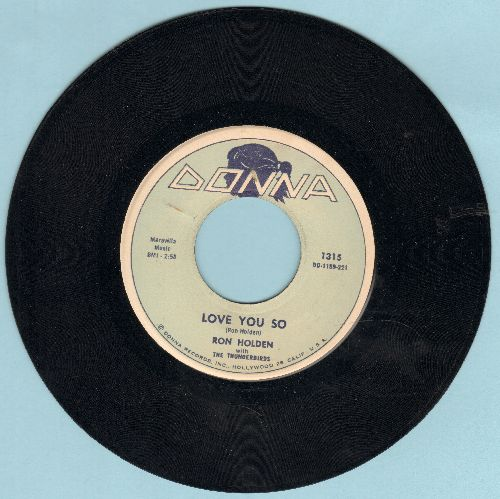 Holden, Ron - Love You So/My Babe (first pressing) - VG7/ - 45 rpm Records