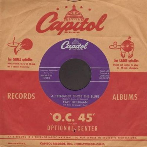 Holliman, Earl - A Teenager Sings The Blues/Don't Get Around Much Anymore (with vintage Capitol company sleeve) - M10/ - 45 rpm Records