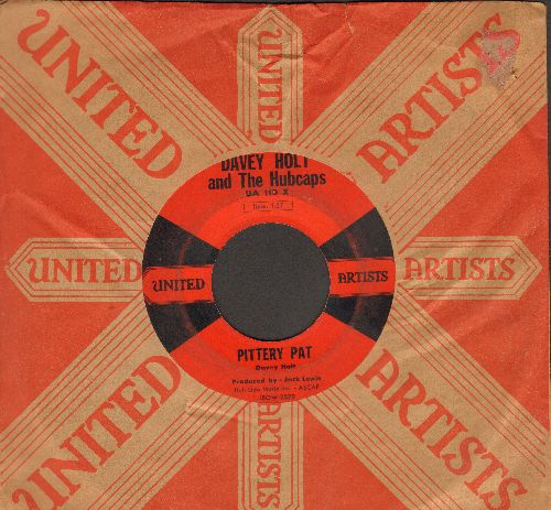 Holt, Davey & The Hubcaps - Pittery Pat/You Move Me (RARE contemporary Elvis Presley sound-alike, with United Artists company sleeve) - VG6/ - 45 rpm Records
