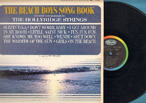 Hollyridge Strings - The Beach Boys Song Book: Surfin' U.S.A., I Get Around, Little Saint Nick, Fun Fun Fun, Wendy Shut Down  (vinyl MONO LP record) - VG7/EX8 - LP Records