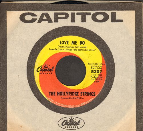 Hollyridge Strings - Love Me Do/All My Loving (with vintage Capitol company sleeve) - EX8/ - 45 rpm Records