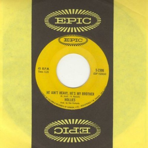 Hollies - He Ain't Heavy, He's My Brother/Carrie-Ann (authentic-looking double hit re-issue with Epic company sleeve) - EX8/ - 45 rpm Records
