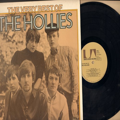 Hollies - The Very Best Of: Bus Stop, On A Carousel, Lucille, Look Through Any Window (vinyl MONO LP record, 1975 issue of vintage recordings) - NM9/EX8 - LP Records