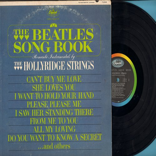 Hollyridge Strings - The Beatles Song Book: She Loves You, Can't Buy Me Love, I Want To Hold Your Hand, Do You Want To Know A Secret (vinyl MONO LP record) - VG7/VG7 - LP Records