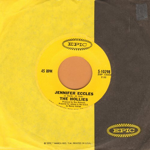 Hollies - Jennifer Eccles/Try It (with Epic company sleeve) - NM9/ - 45 rpm Records