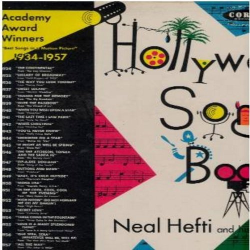 Hefti, Neal & His Orchestra - Hollywood Song Book - Academy Award Winners 1934-1957: The Continental, Over The Rainbow, White Christmas, Zip-A-Dee Doo-Dah, Mona Lisa, Secret Love (2 vinyl LP record set, gate-fold cover) - NM9/EX8 - LP Records