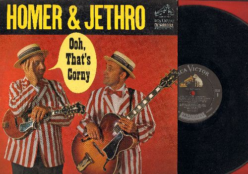 Homer & Jethro - Ooh, That's Corny: Mama Get The Hammer (There's A Fly On Papa's Head), When Banana Skins Are Falling, I Can't Tell My Heart (vinyl MONO LP record) - VG7/EX8 - LP Records