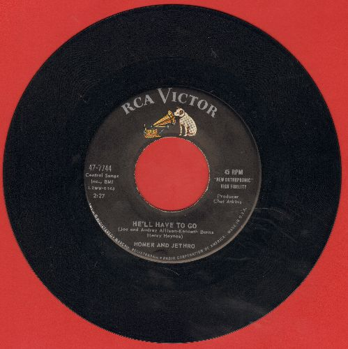 Homer & Jethro - He'll Have To Go/Sink The Bismarck  - EX8/ - 45 rpm Records