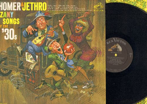 Homer & Jethro - Zany Songs Of The '30s: Three Little Fishies, I'm An Old Cowhand, Bei Mir Bist Du Schoen (vinyl MONO LP record, NICE condition!) - M10/NM9 - LP Records