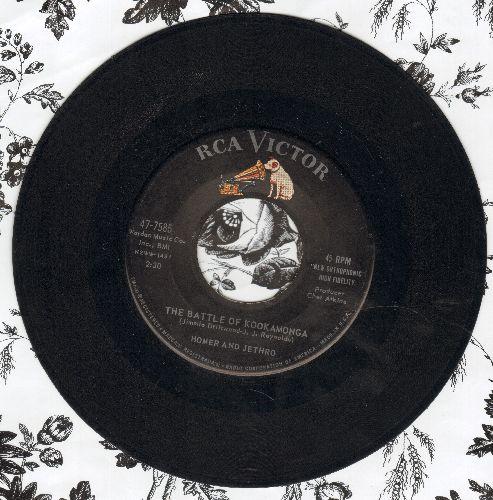 Homer & Jethro - The Battle Of Kookamonga/Waterloo - VG7/ - 45 rpm Records