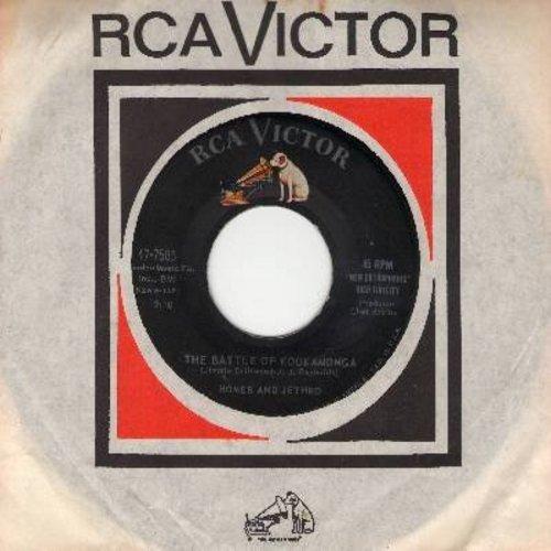 Homer & Jethro - The Battle Of Kookamonga/Waterloo (with vintage RCA company sleeve) - EX8/ - 45 rpm Records