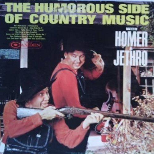 Homer & Jethro - The Humorous Side Of Country Music: Sixteen Tons, The Ballad Of Davy Crew-Cut, Screen Door, He'll Have To Go, Yeller Rose Of Texas You-All (vinyl LP record) - M10/EX8 - LP Records