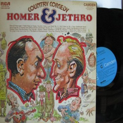 Homer & Jethro - Country Comedy: Your Clobbered Heart, Yaller Rose Of Texas, Let Me Go Blubber, The Battle Of Kookamonga (2 vinyl STEREO LP record set, gate-fold cover) - NM9/VG7 - LP Records