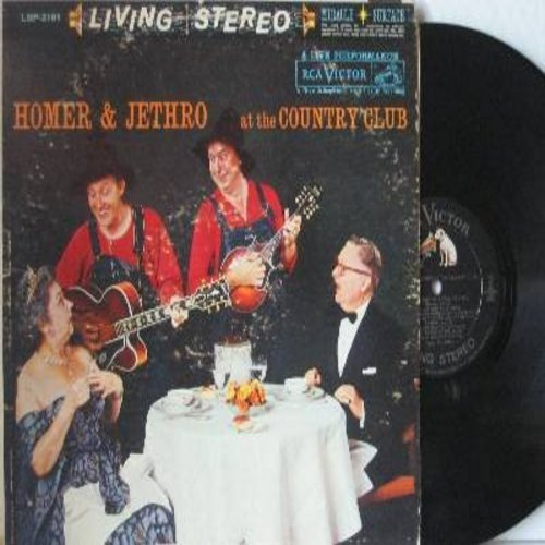Homer & Jethro - At The Country Club: Fascination, Sixteen Tons, Hart Brake Motel, Lullaby Of Bird Dog, Let Me Go Blubber (vinyl STEREO LP record) - EX8/VG6 - LP Records