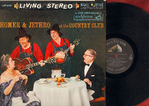 Homer & Jethro - At The Country Club: Fascination, Sixteen Tons, Hart Brake Motel, Lullaby Of Bird Dog, Let Me Go Blubber (vinyl STEREO LP record, NICE condition!) - M10/NM9 - LP Records