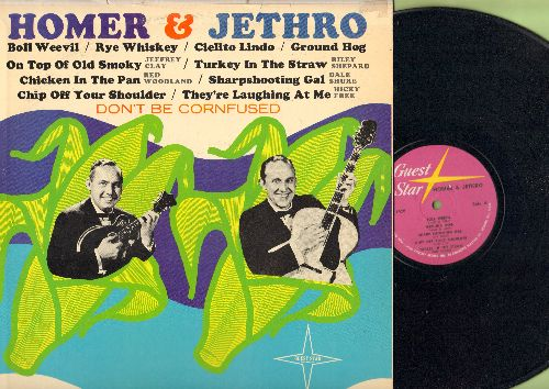 Homer & Jethro - Don't Be Confused: Ground Hog, Boll Weevil, Rye Whiskey, Chicken In The Pan and other -answer songs- (vinyl MONO LP record) - NM9/EX8 - LP Records