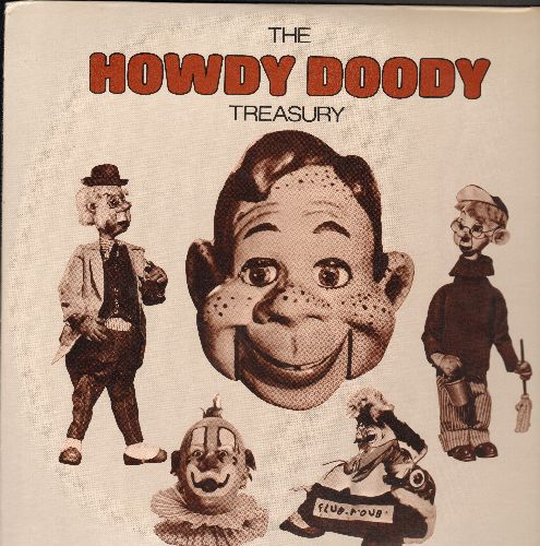 Howdy Doody - The Howdy Doody Treasury: The Popcorn Song, Little Miss Muffet, Howdy Doody Do's And Don'ts (2 vinyl LP record set, Columbia House Pressing) - NM9/NM9 - LP Records