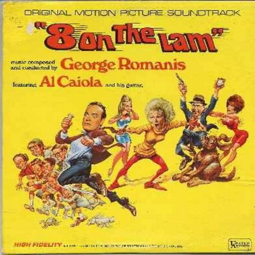 Caiola, Al & His Orchestra - 8 On A Lam - Original Motion Picture Sound Track - Starring Bob Hope, Phyllis Diller, Jonathan Winters and Jill St. John (vinyl LP record) - NM9/EX8 - LP Records