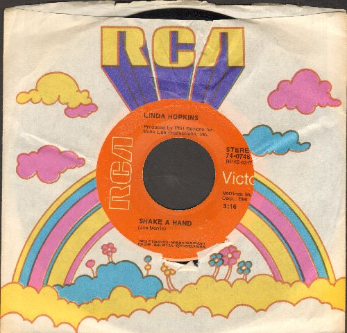 Hopkins, Linda - Shake A Hand/Please Send Me Someone To Love (with RCA company sleeve) - NM9/ - 45 rpm Records