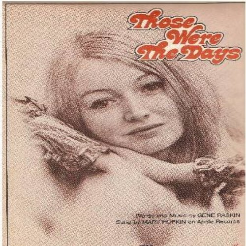Hopkin, Mary - Those Were The Days - SHEET MUSIC for the legendary folk song made popular by Mary Hopkin (this is SHEET MUSIC, not any other kind of media!) - EX8/ - Sheet Music
