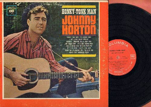 Horton, Johnny - Honky-Tonk Man: Goodbye Lonesome Hello Baby Doll, The Wild One, I'm A One-Woman Man (vinyl MONO LP record) - VG7/VG7 - LP Records