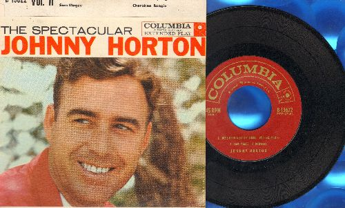 Horton, Johnny - The Spectacular Johnny Horton Vol. II: Joe's Been A-Gittin' There/Sam Magee/When It's Springtime In Alaska/Cherokee Boogie (vinyl EP record with picture cover) - EX8/EX8 - 45 rpm Records