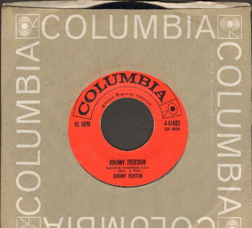 Horton, Johnny - Johnny Freedom/Comanche (with Columbia company sleeve) - EX8/ - 45 rpm Records