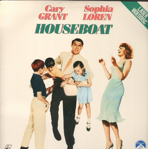 Loren, Sophia, Cary Grant - Houseboat - LASER DISC of the Classic Romantic Comedy starring Cary Grant and Sophia Loren (this is a LASER DISC, not any other kind of media!) - NM9/NM9 - Laser Discs