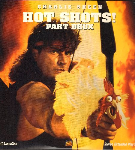 Hot Shots! Part Deux - Hot Shots! Part Deux - LASER DISC version of the Classic Action-Adventure Comedy Spoof starring Charlie Sheen (This is a LASER DISC, not any other kind of media!) - NM9/NM9 - Laser Discs
