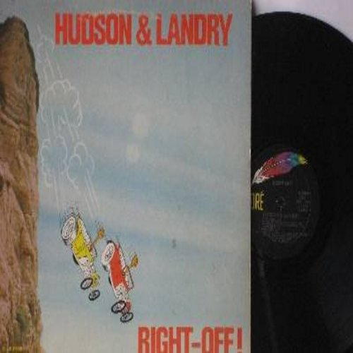 Hudson & Landry - Right-Off!: Bruiser LaRue Meets Count Dracula, The Rising and Falling of Adolph Hitler, Ajax Pet Store, Frontier Christmas, Ajax Mortuary (vinyl STEREO LP record) - NM9/VG7 - LP Records