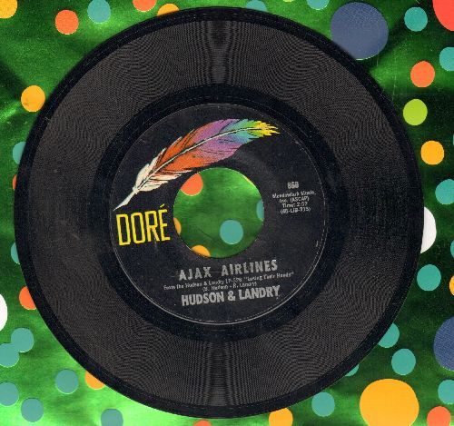 Hudson & Landry - Ajax Airlines/Bruiser La Rue  - NM9/ - 45 rpm Records