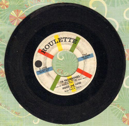 Hugo & Luigi - 76 Trombones/Twilight In Tennesse (minor wol) - VG7/ - 45 rpm Records
