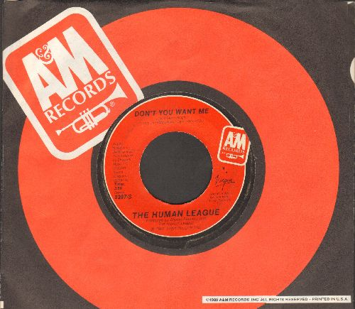 Human League - Don't You Want Me/Seconds (with A&M company sleeve) - EX8/ - 45 rpm Records