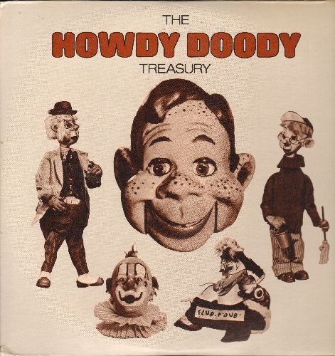 Howdy Doody and his creator Bob Smith - The Howdy Doody Treasury - The Best Of Howdy Doody: 2 vinyl LP records, Columbia House Musical Treasury Series. - NM9/NM9 - LP Records