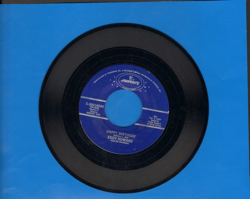 Howard, Eddy - Happy Birthday/Anniversary Waltz (re-issue) - EX8/ - 45 rpm Records