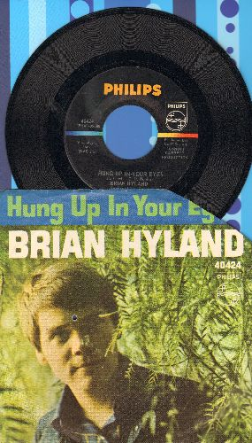 Hyland, Brian - Hung Up In Your Eyes/Why Mine (with picture sleeve)(sleeve clipped upper right corner) - NM9/VG7 - 45 rpm Records