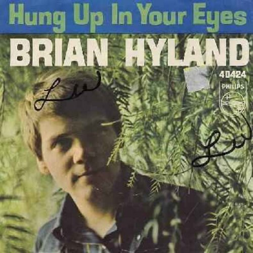 Hyland, Brian - Hung Up In Your Eyes/Why Mine (with picture sleeve)(wos) - NM9/VG7 - 45 rpm Records